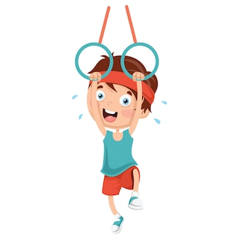 Illustration of kids making sport