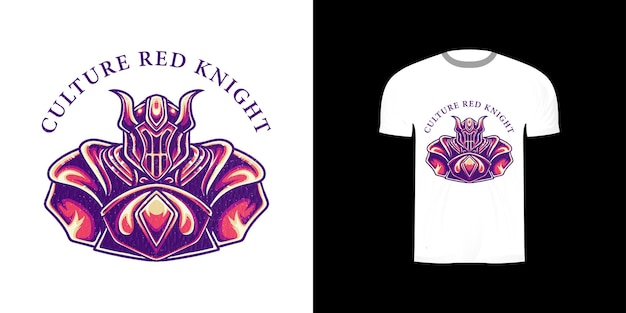 Иллюстрация рыцаря для дизайна футболки