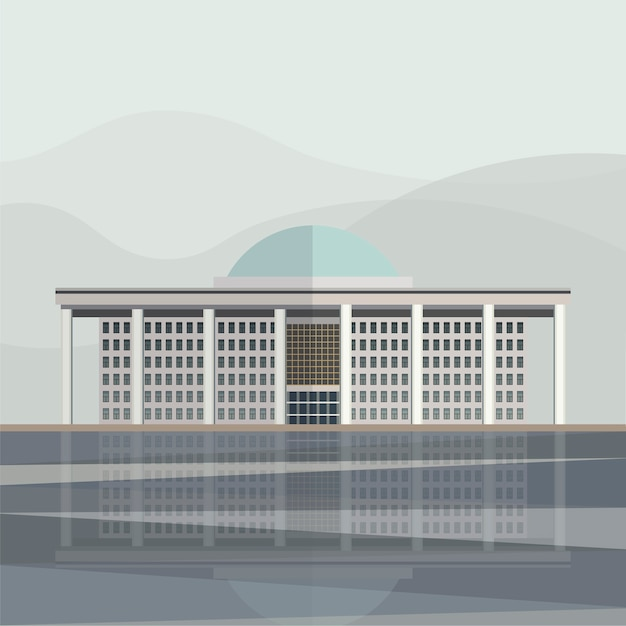 Illustration of korea national assembly proceeding hall