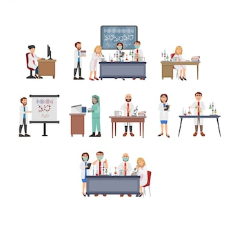 Illustration of laboratory science activity