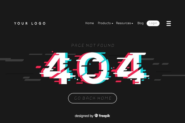 Illustration for landing page with error 404 concept
