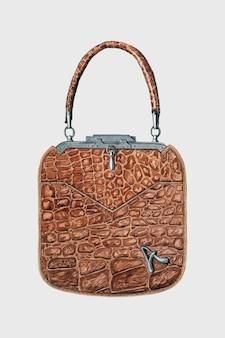 Illustration of leather bag