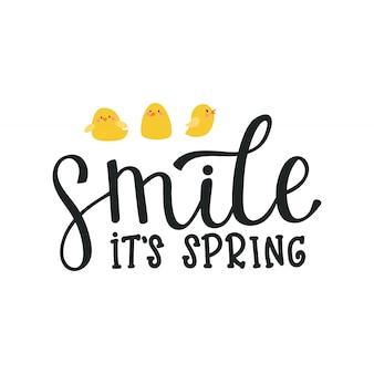 Illustration, lettering spring