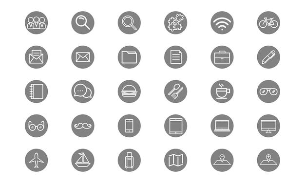 Illustrazione delle icone di stile di vita