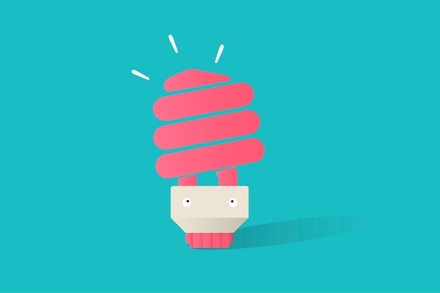 Illustration of light bulb vector on blue background