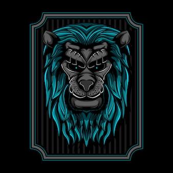 Illustration of lion head