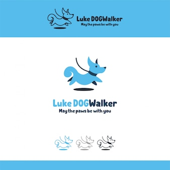 Illustration logo taper dog animal pets