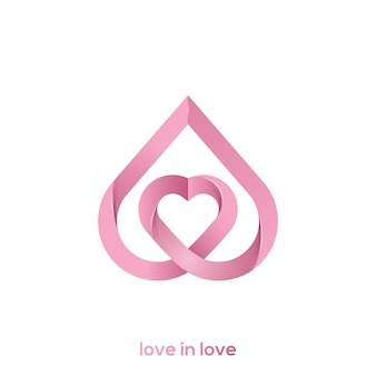 Illustration of a love logo in love