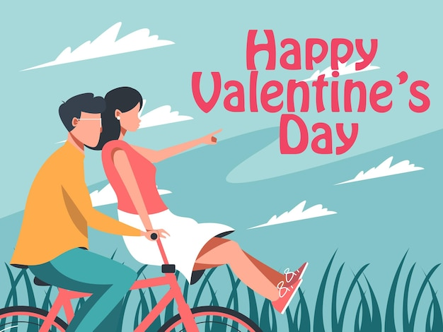 Illustration of love and valentine`s day