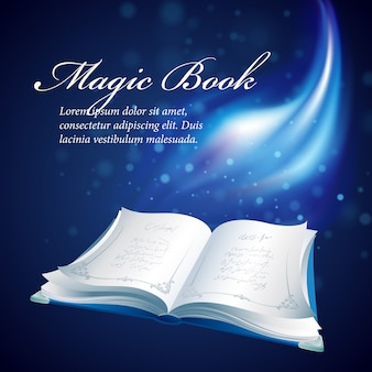 Illustration of a magical book