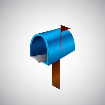 イラストメールアイコン。メールボックスのイラスト