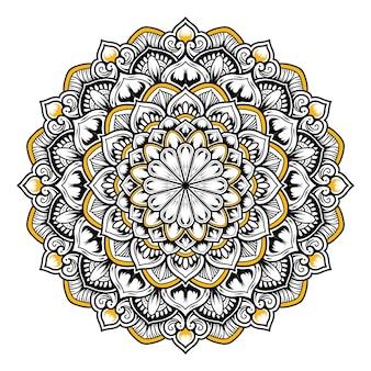 Illustration of mandala art decor design.