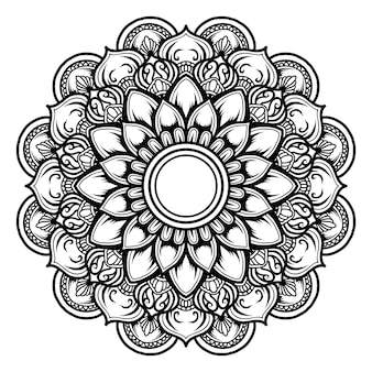 Illustration of mandala art decor design.