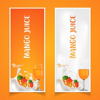 Illustration for mango fruit product packaging