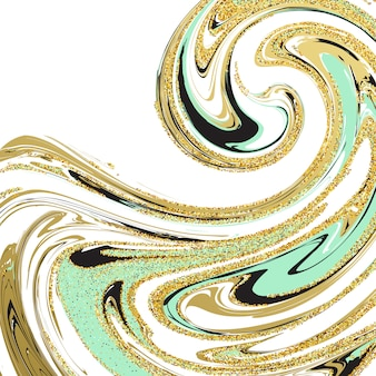 Illustration of marbling texture. for design, website, background, banner. ink liquid element template