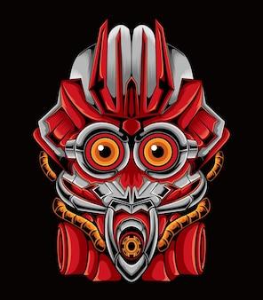 일러스트 메카 귀여운 로봇