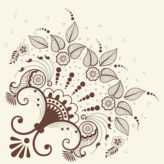 Illustrazione dell'ornamento di mehndi