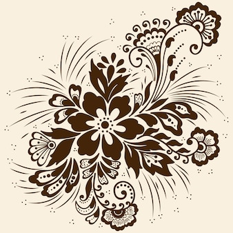 Illustration of mehndi ornament