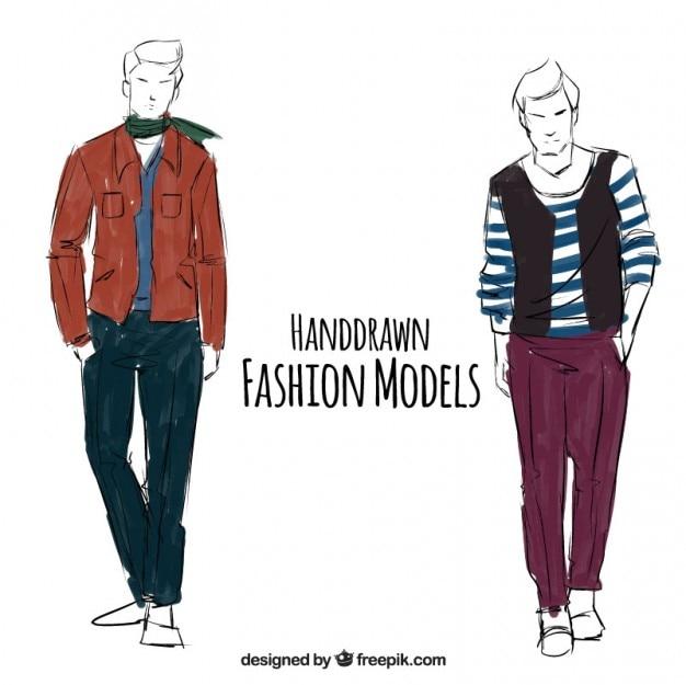 Illustrazione di abbigliamento maschile