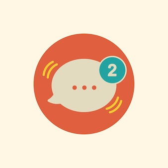 Illustration of message speech bubble icon