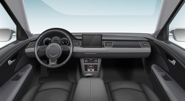 Illustration of modern car interior automobile