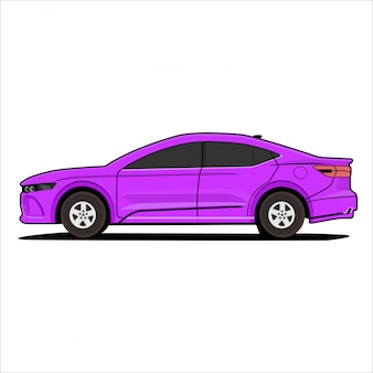 Illustration modern car