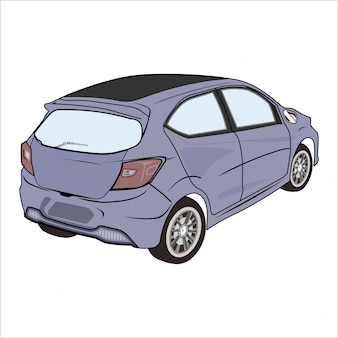 Illustration modern city car