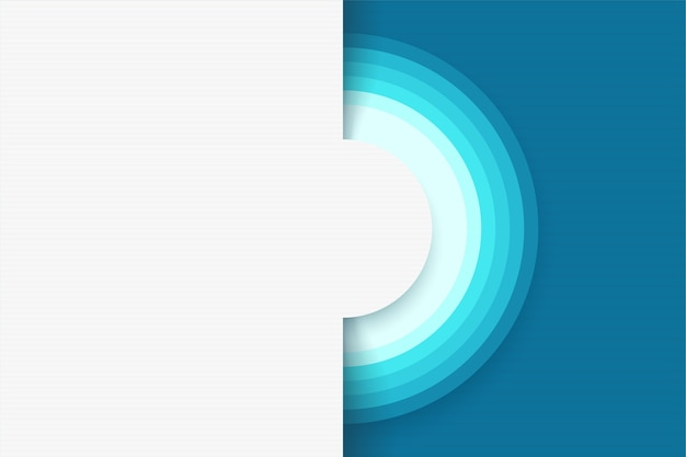 Illustration of modern design abstract white background with circles and blue color elements