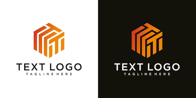 Иллюстрация современной буквы t знак роскошный логотип дизайн шаблона