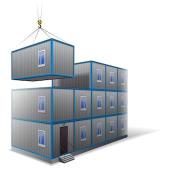 Illustration of a modular building
