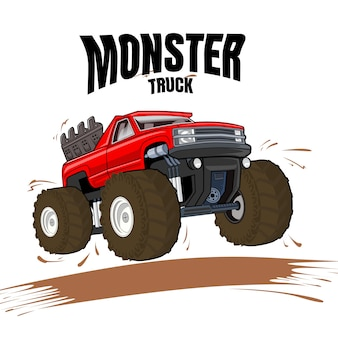 Illustration of monster truck vehicle