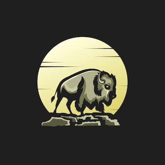 Illustration of moon bison