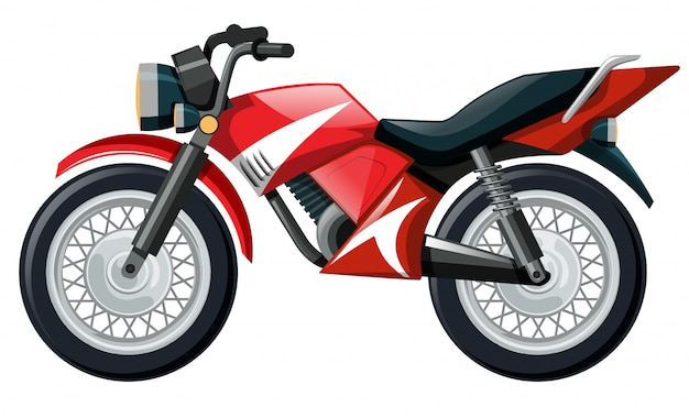 Illustration of motorcycle in red color