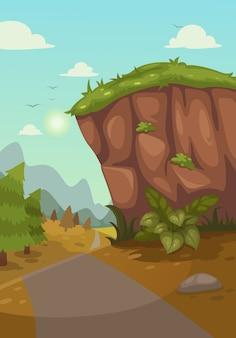 Illustration of mountains landscape