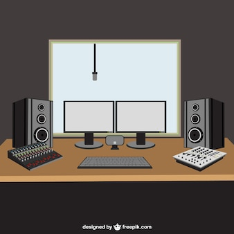 Illustrazione di studio musicale