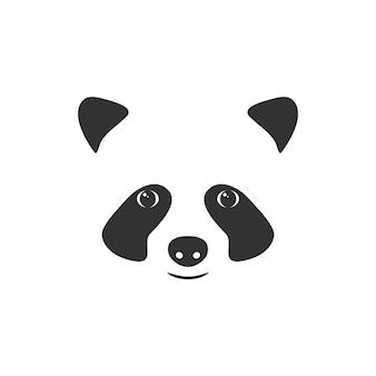 Illustration muzzle little panda.