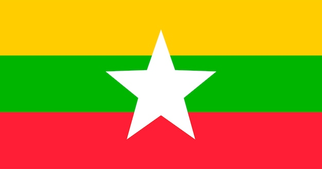 Illustration of myanmar flag