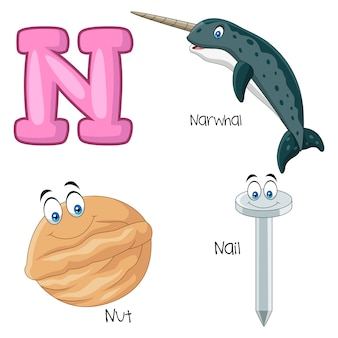 Illustration of n alphabet