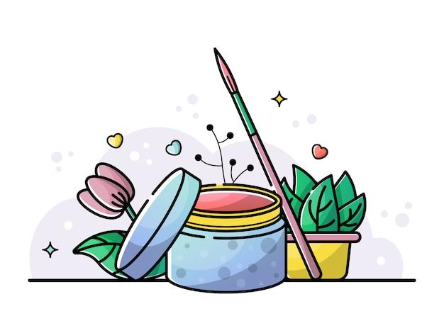 Illustration of nail beauty salon