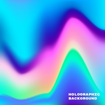 Illustration of neon holographic vibrant gradient in blue