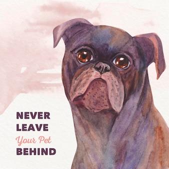 L'illustrazione di non ti lascia mai animale domestico dietro il concetto