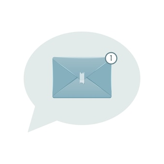 Illustration of the new email icon for electronic communication