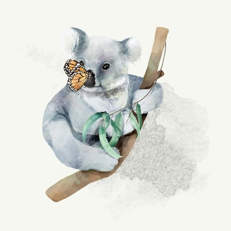 Illustration of a baby koala
