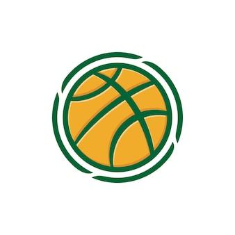 Иллюстрация баскетбольного мяча. подходит для логотипа команды по баскетболу или любого бизнеса, связанного со спортом.