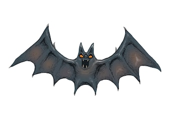 Illustration of a bat icon vector for Halloween