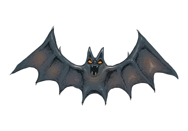 Иллюстрация вектора значка летучей мыши для хэллоуина