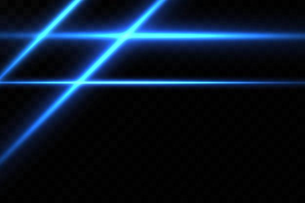 青い色のイラスト。光の効果。光の抽象的なレーザービーム。混沌としたネオン光線