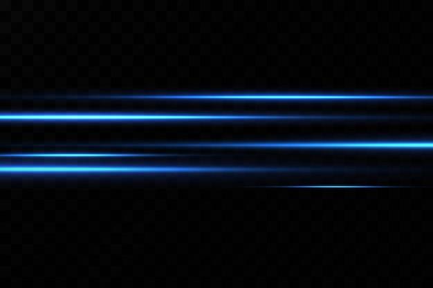 青い色のイラスト。光の効果。光の抽象的なレーザービーム