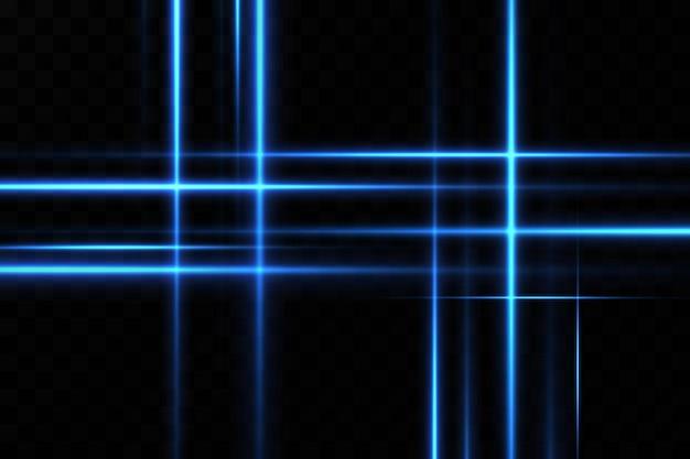 青い色のイラスト。光の効果。光の抽象的なレーザービーム Premiumベクター
