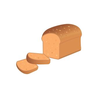 Иллюстрация ломтиков хлеба на белом фоне eps10